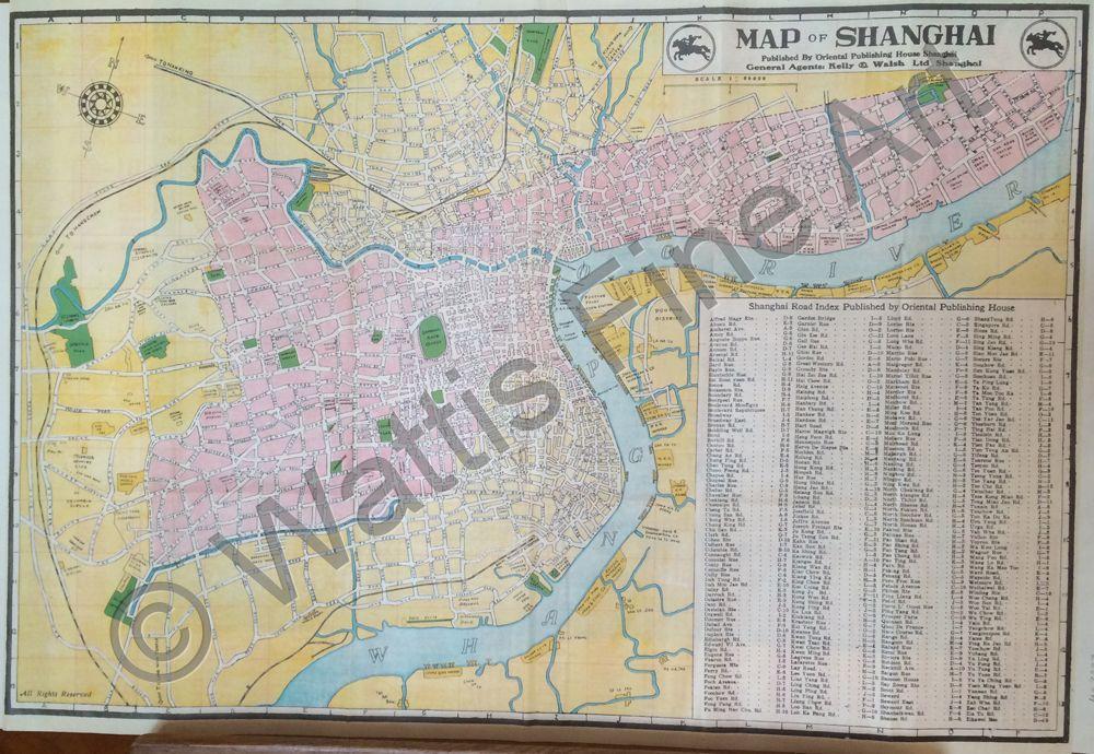 WATTIS FINE ART GALLERY Map of Shanghai